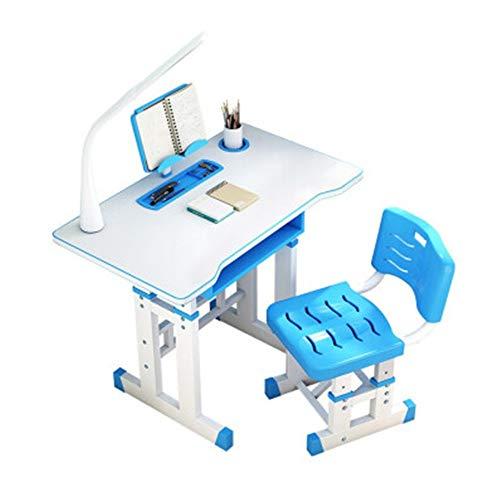 AOWU Mesa de Estudio para niños Estudio niños Tabla Juego de sillas de elevación Multifuncional Escritorio Escritorio Tabla niños Escritorio para Estudiantes (Color : Blue, Size : Medium)
