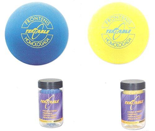 Tubo con 2 pelotas de frontenis, amarillo, Homologuée
