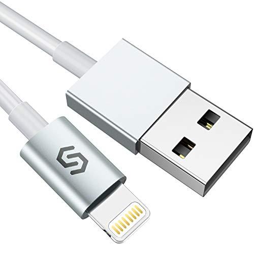 Syncwire Cavo Lightning Caricatore iPhone - 1 Metri [Cavetto Certificato MFi] Veloce Cavo Apple Ricarica e Sincronizzazione per iPhone 11, 11Pro, Max XS Max X XR 8 7 6s 6 Plus SE 5 5s 5c iPad iPod
