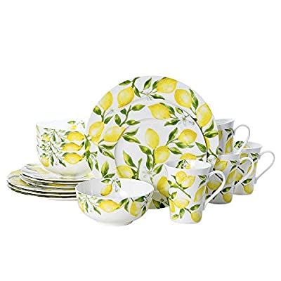 Mikasa Lemons 16-Piece Dinnerware Set, Floral