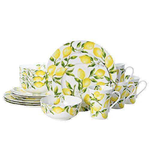 Mikasa Lemons 16-Piece Dinnerware Set, Service For 4, Multicolor