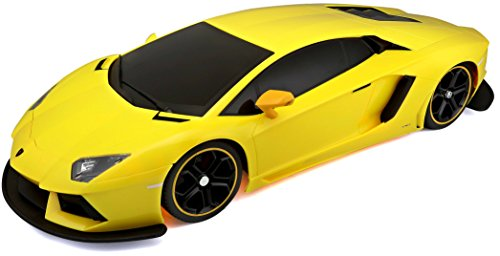 Bburago Maisto France- Véhicule Miniature-Lamborghini Aventador LP700-4 RC, M81026, Jaune