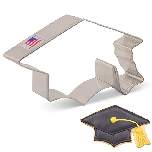 Ann Clark Cookie Cutters Graduation Cap/Hat/Mortar Board Cookie Cutter, 4.5'