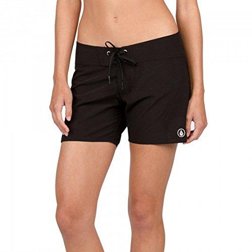 Volcom Women's Simply Solid 5 Inch Boardshort Board Shorts, Black, 11