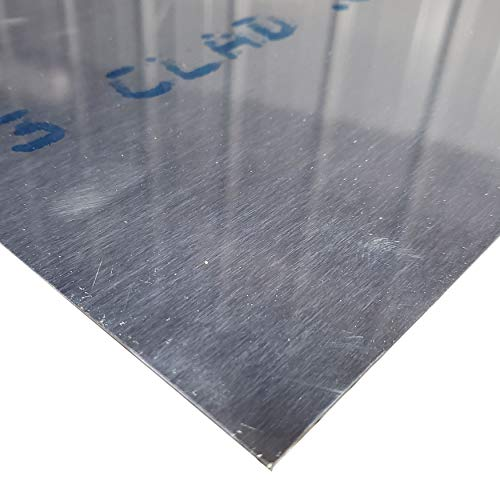 Online Metal Supply 2024-T3 Alclad Aluminum Sheet, Thickness: 0.032 inch, Width: 12 inches, Length: 12 inches