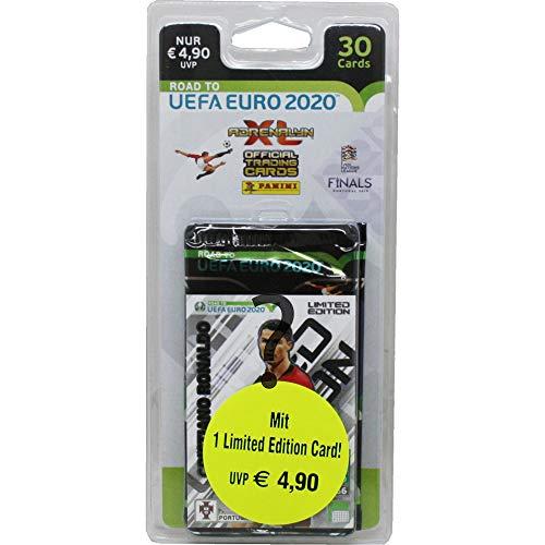 Panini 404902 Sammelkarten Road to Euro 2020, 5 Booster und Limitierte Karte, bunt