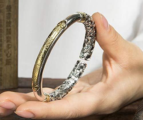 999 zilveren armband sieraden mannen en vrouwen open armband, Qitian Dasheng armband sieraden accessoires ketting vrienden gift souvenir