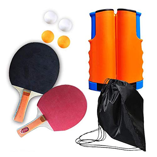 Best Bargain Bocotous Table Tennis Set, Ping Pong Paddle Set with Retractable Net for Any Table-Kids...