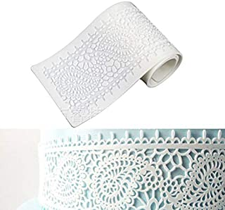 First Try Embossing Lace Fondant Moulds, Flower Pattern Lace Mat Wedding Cake Decoration Tool, Multi Flower Shaped Cupcake...