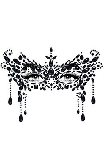 Leg Avenue Masque pour Les Yeux Transparent Masquerade Make-up Face Jewels Sticker