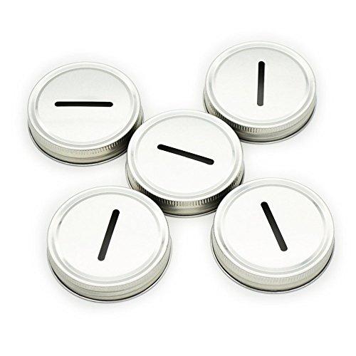 LKXC 5 Coin Lids for Mason Jar (Mason Jar not included)