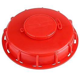 Couvercle de réservoir IBC, réservoir d'eau IBC ventilé Couvercle respiratoire Adaptateur de capuchon en plastique rouge…