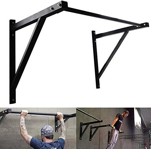 Barra de dominadas montada en la pared, agarre de mano para puerta resistente, barras de ejercicio del cuerpo superior, barra horizontal, altura ajustada, para interior y hogar, gimnasio