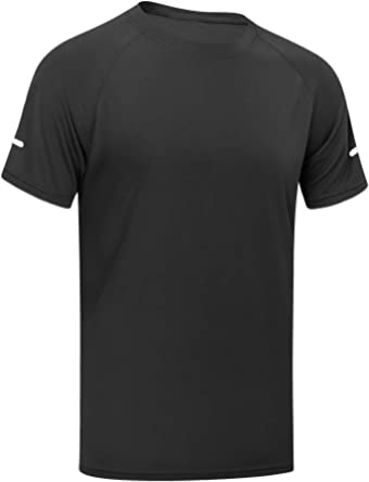 MEETYOO Men's Sport Shirt, Short Sleeve T-shirt Running Top Breathable Gym Tee for Workout Jogging Fitness