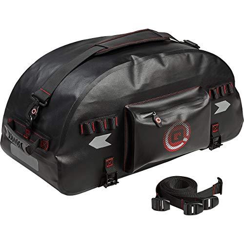 QBag Hecktasche Motorrad Motorradtasche Hecktaschenrolle wasserdicht 50 Liter Stauraum schwarz, Unisex, Multipurpose, Ganzjährig, Polyester
