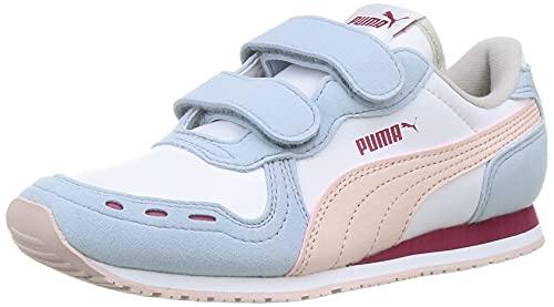 Puma Cabana Racer SL V PS, Zapatillas Deportivas, White Gre, 35 EU