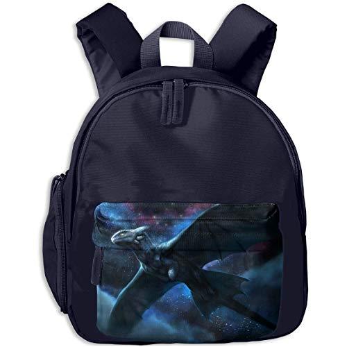 Hdadwy Mini Bolso de Hombro Preescolar para niños Flying Dragon Printed Bookbag para niño