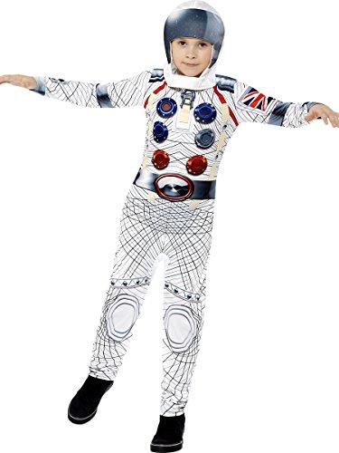 Smiffys Kinder Deluxe Astronaut Kostüm, Jumpsuit und Kapuze, Größe: S, 43180