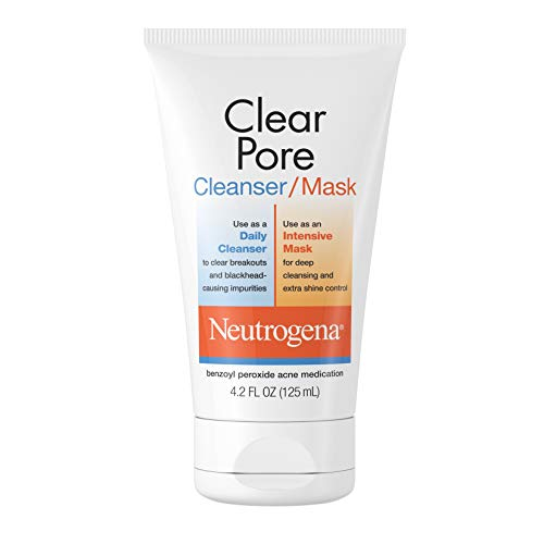 Neutrogena Clear Pore Facial Cleanser / Face Mask containing Kaolin & Bentonite Clay