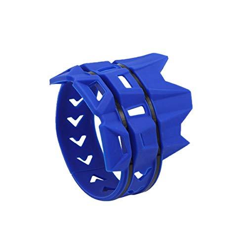 Greatangle-UK MB-TP093 Universal ACERBIS Motocicleta Moto Sistema de Escape Escape silenciador Protector Protector Azul