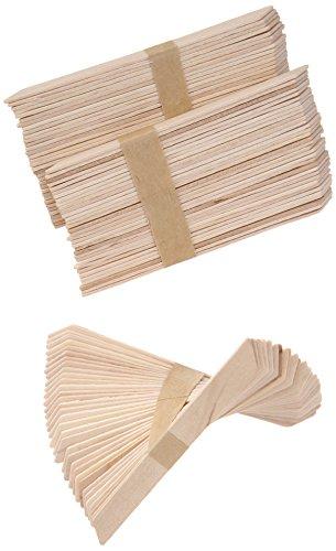 GiGi Accu Edge Small Wax Applicators for Hair Waxing/Hair Removal, 100 Pieces