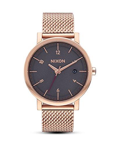Nixon Damen Analog Quarz Uhr mit Edelstahl beschichtet Armband A10872449-00