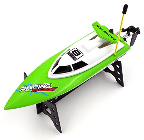 DOPLUS nft008-green Auto-Flip RC Boat High Speed Racing Remote Control Boat On Water Pool Lake River, Green