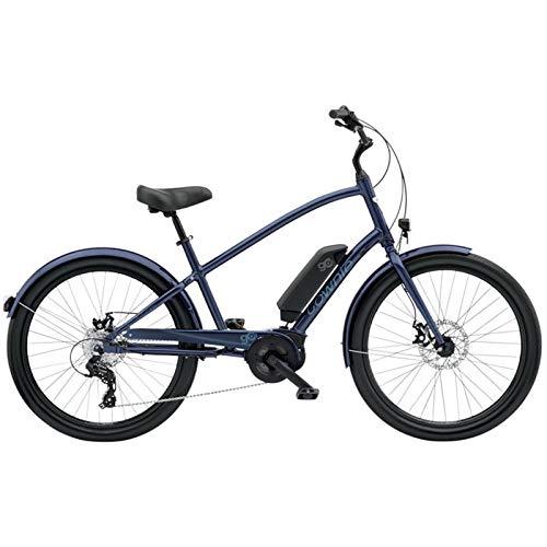 Electra Townie Go - Bicicleta para hombre 8D Poseidon Blue 5684Mens - Bicicleta eléctrica, 8 velocidades, 26', color azul