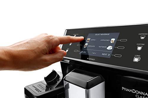 DeLonghi-PrimaDonna-Class-Kaffeevollautomat-mit-Milchsystem-Cappuccino-und-Espresso-auf-Knopfdruck-35-Zoll-TFT-Farbdisplay-und-App-Steuerung