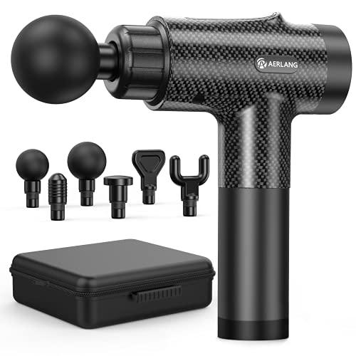 Muscle Massage Gun, Portable Handheld Percussion Massager Gun with 6...
