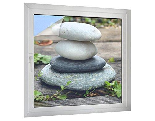 Klebefieber Sichtschutz Steine Wellness B x H: 90cm x 90cm