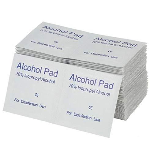 Pegcduu 100PCS / Set de Maquillaje portátil hisopos con Alcohol Pads toallitas antisépticas de Limpieza Limpiador de esterilización de Primeros Auxilios Inicio
