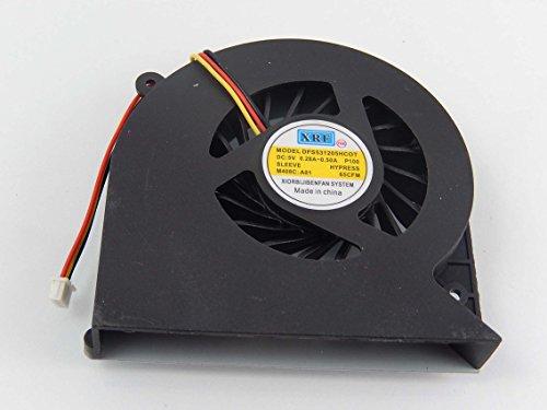 vhbw Ventilador CPU/GPU con Clavija 3-Pin Compatible con Toshiba Satellite L850, L850D, L870, L870D Notebook, portátil