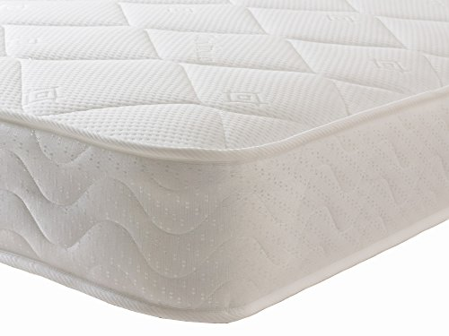 Starlight Beds - Small Single Mattress. Sprung Small Single Memory Foam Mattress With Deluxe Knitted Stretch Onion Micro Quilted Fabric. Fast FBR1102 (2ft6 Small Single Mattress)