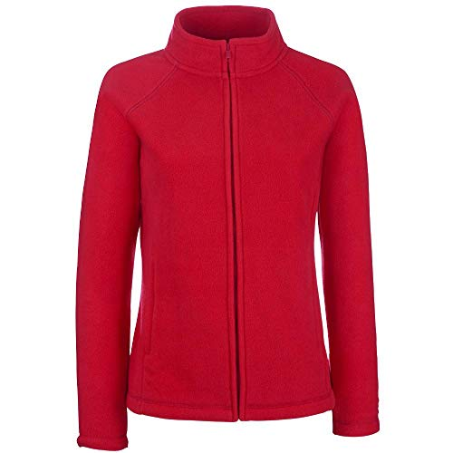Fruit of the Loom - Lady -Fit Fleece Jacket L,Red