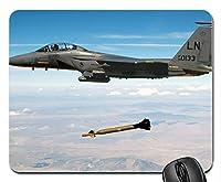 航空機がミサイルラバーコンピューターおしゃれスリップ防止マウスパッドマットを落とした