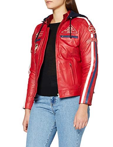 Urban Leather Fashion Lederjacke - Sylvia, light grey, Größe 40, Large