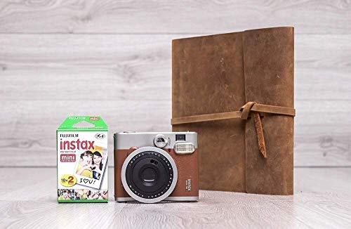 Polaroid Guest Book, Instax Guest Book, Polaroid Wedding Album with Pockets, Crazy Horse Leather Guestbook
