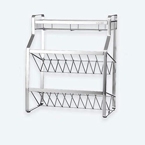 RVS kruidenrek keuken plank organisator staande aanrecht 3 lagen Condiment opslag rack Roestvrij staal