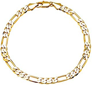 Gold Plated Classic Cubic Chain Style Bracelet for Men (A93MLP30G)