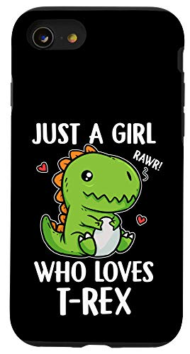 iPhone SE (2020) / 7 / 8 Just A Girl Who Loves T-Rex Cute Dinosaur T-Rex Costume Case