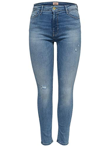 ONLY NOS Damen onlPAOLA HIGHWAIST SK JNS BB AZG809 NOOS Skinny Jeans, Blau (Light Blue Denim), 38/L32 (Herstellergröße: M)