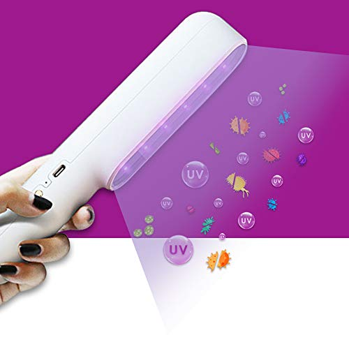 UVILIZER Extra - UV Light Sanitizer & Ultraviolet Sterilizer Hand Wand (Rechargeable UV-C LED Disinfection Lamp   Portable UVC Cleaner for Home, Car, Room   Kill 99% of Germs, Bacteria, Viruses   USA)