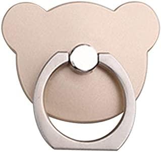 Uzinb Bear Shape Phone Ring 360 Bear phone Degree Rotating Ring Grip A...