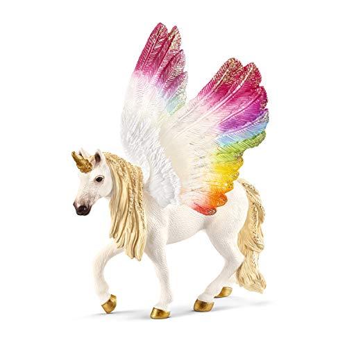 Schleich 70576 bayala Spielfigur - Geflügeltes Regenbogeneinhorn, Spielzeug ab 5 Jahren