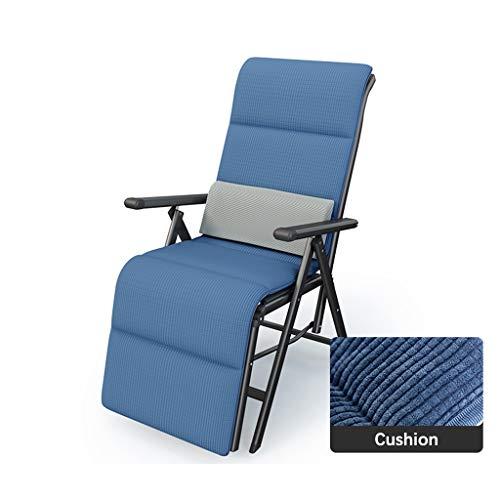 Xiao Jian- Chaise Longue Inclinable Pliable avec Coussin Et Appui-tête Amovibles Inclus, Fauteuil Pliable Et Réglable Air Comfort Chaises de Jardin (Color : Chair 1)