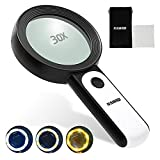 Magnifying Glass with Light, 18LED Lighted Magnifying Glasses Handheld Magnifier, Gifts for Elderly Kids Jewelers for Reading Close Work