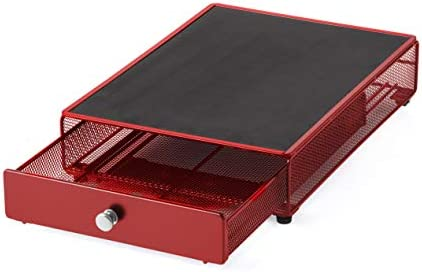 NIFTY HOME SOLUTIONS Small Appliance Rolling Storage Drawer 13 5 x10 5 x3 Red product image