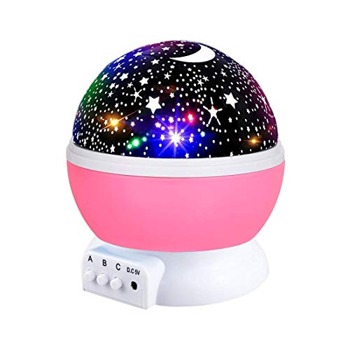 Starry Night Light for Girls, Rotating Star Light...