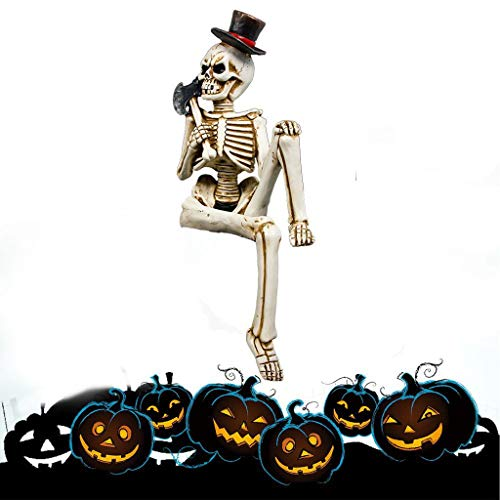 Creepy Halloween Decoraties, bijl Skeleton Beste Keuze Outdoor Indoor Decoraties Voor Festival/Hotel/Bar Party Decoratie.